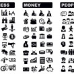 商务、 金钱和图标 — 图库矢量图片 #20134977