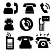 Phone icons — Stock Vector #21578653