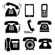 Phone icons — Stock Vector #21578699