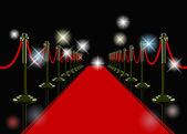 Vector red carpet — Stock Vector