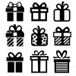 Gift icon — Stock Vector #21889371