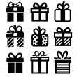 Stock Vector: Gift icon