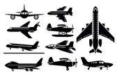 Icono de aviones — Vector de stock