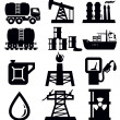 Oil icons - Stock Vector