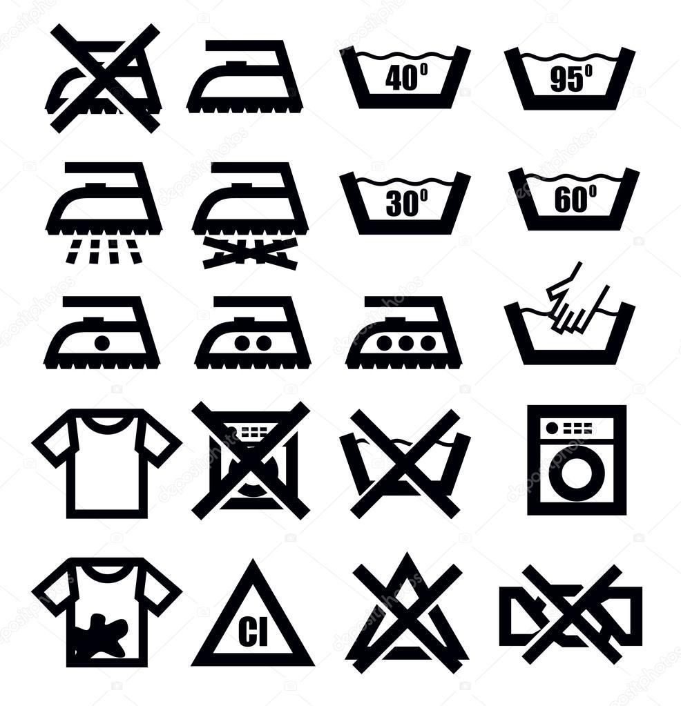 洗涤标志和衣服 — 图库矢量图像08