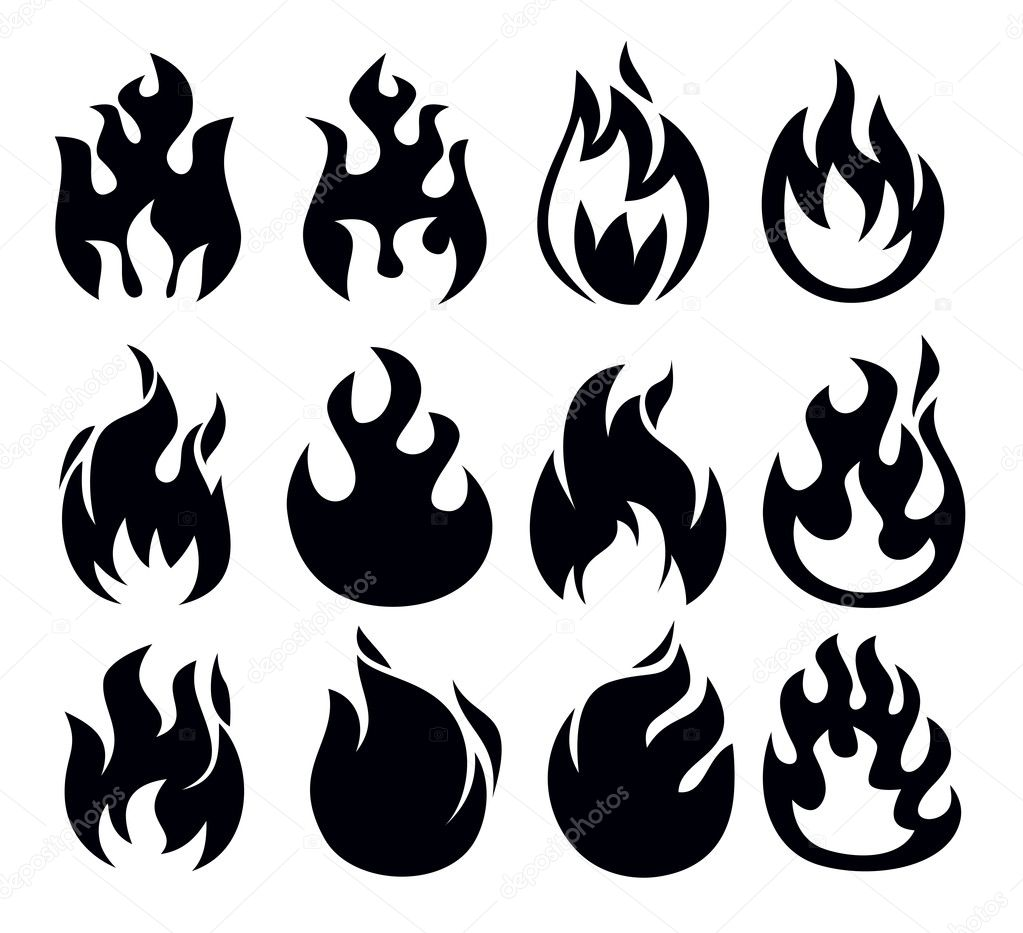 Fire icon — Stock Vector © bioraven #23225996
