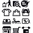 Shopping icons — Stock Vector #23298948
