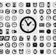 Stok Vektör: Clocks icon