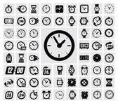 Hodiny ikona — Stock vektor