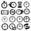 Clocks icon — Stock Vector #23447164