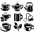 Tea icons — Stock Vector