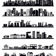 Houses and city icons — Stock Vector #24360807