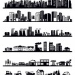 Houses and city icons — Stock Vector