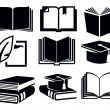Book icons — Stockvector  #24540889