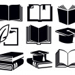Book icons — Stock Vector #24540889