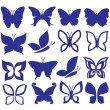Stock Vector: Butterflies icons