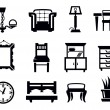 Furniture icon set — Vektorgrafik