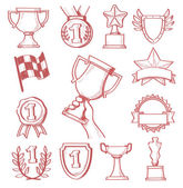 Trophy and awards — Stock Vector