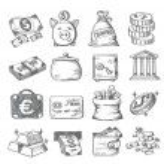 Hand draw money — Stock Vector