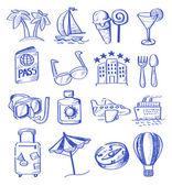 Hand draw travel — Stock Vector