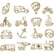 Hand drawn transport — Vector de stock #26369923