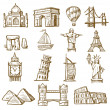Hand drawn landmarks — Stock Vector #28344885