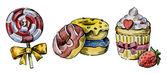 Acuarela pasteles dibujados a mano — Foto de Stock