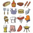 Hand draw barbecue — Stock Vector