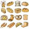 Hand drawn bread — Stock Vector