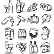 Hand draw wine — Stock Vector