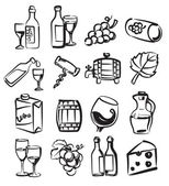 Hand draw wine — Stock Vector