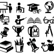 Icons set education — Stock Vector #30050173