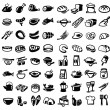Food icons — Stok Vektör #30299427