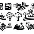 Vector nature icons — Stock Vector #30454039