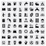Energy icons — Stock Vector