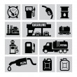 Stock Vector: Petrol icons