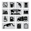 Petrol icons — Stock Vector #30952695