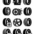 Tyre icons — Stock Vector