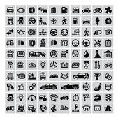 Auto icons — Stock Vector