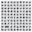 100 Business-Web-icons — Vektorgrafik