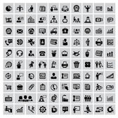 100 business web icons — Stock Vector