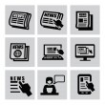 Zeitung-Symbole — Stockvektor