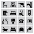 Furniture and home icons — Stock Vector
