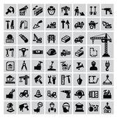 Icone di costruzione — Vettoriale Stock