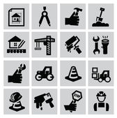 Construction icons — Stockvector
