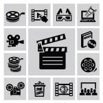 Movie icons — Stock Vector #31636331