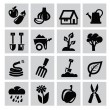 Stock Vector: Gardening icons