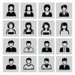 Stock vektor: People icons