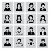 People icons — Vettoriale Stock