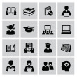 Education icons — Stock Vector #32137769